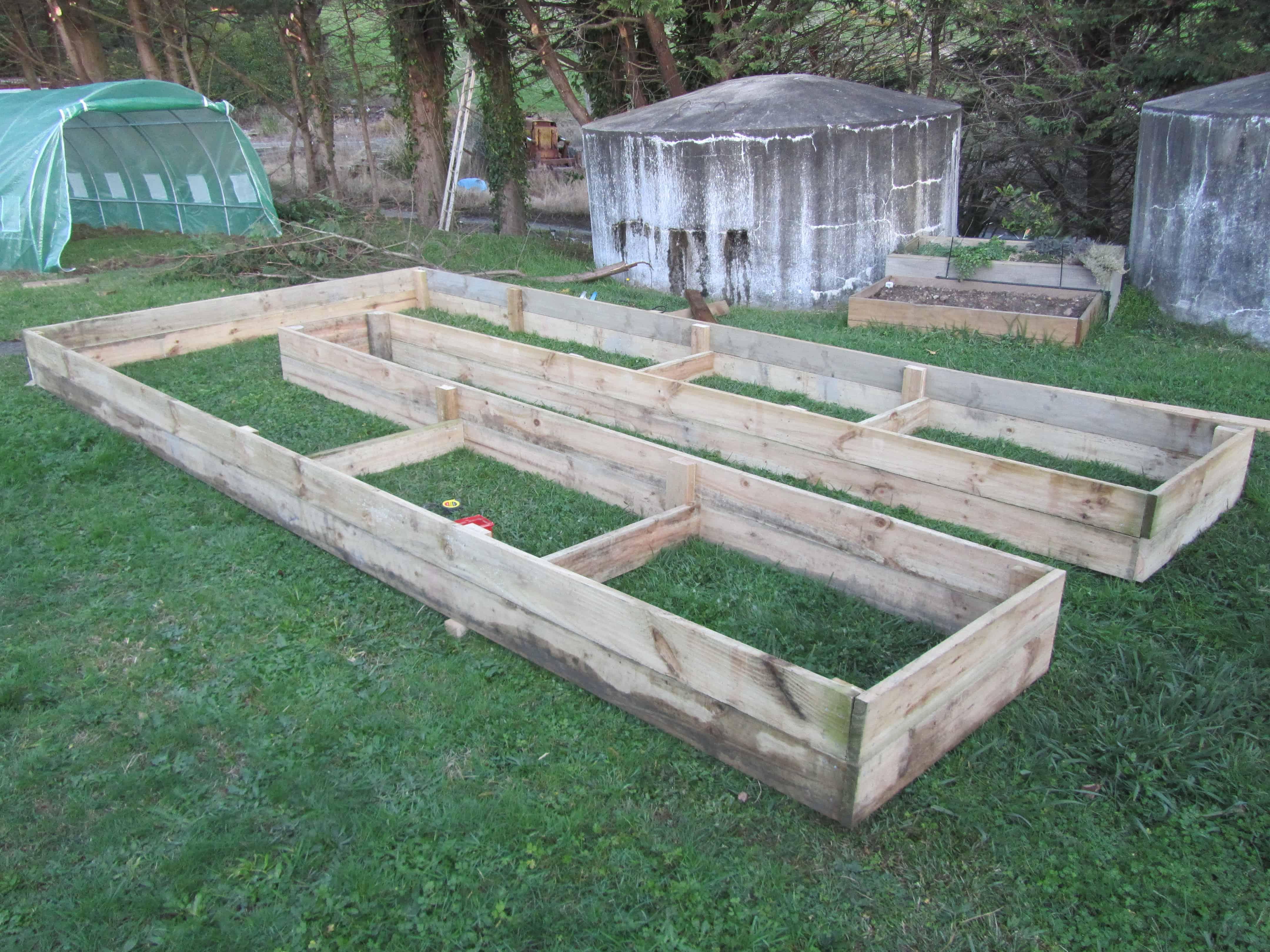 Huge raised garden beds!