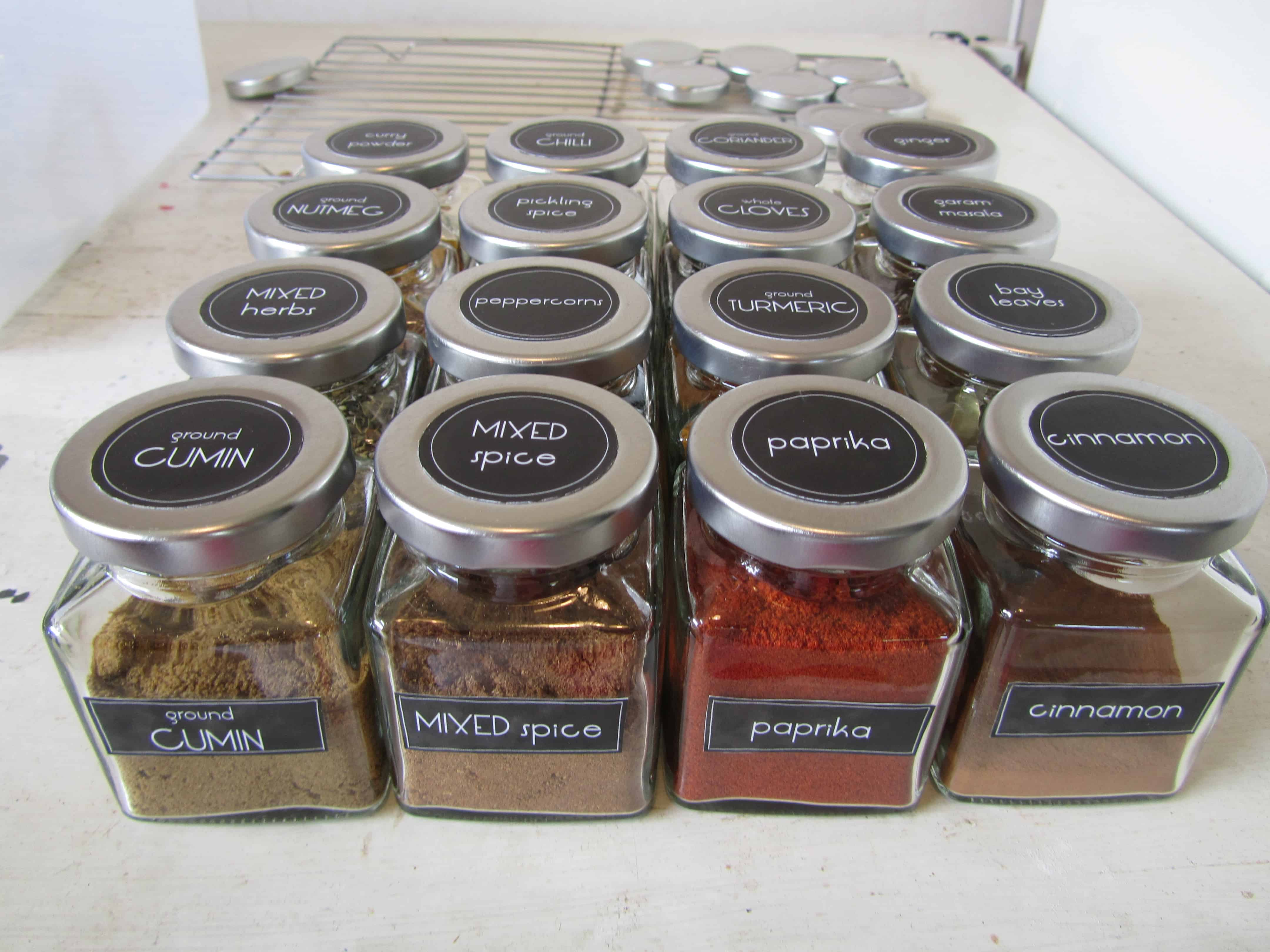spice jar labels with free printables the kiwi country girl