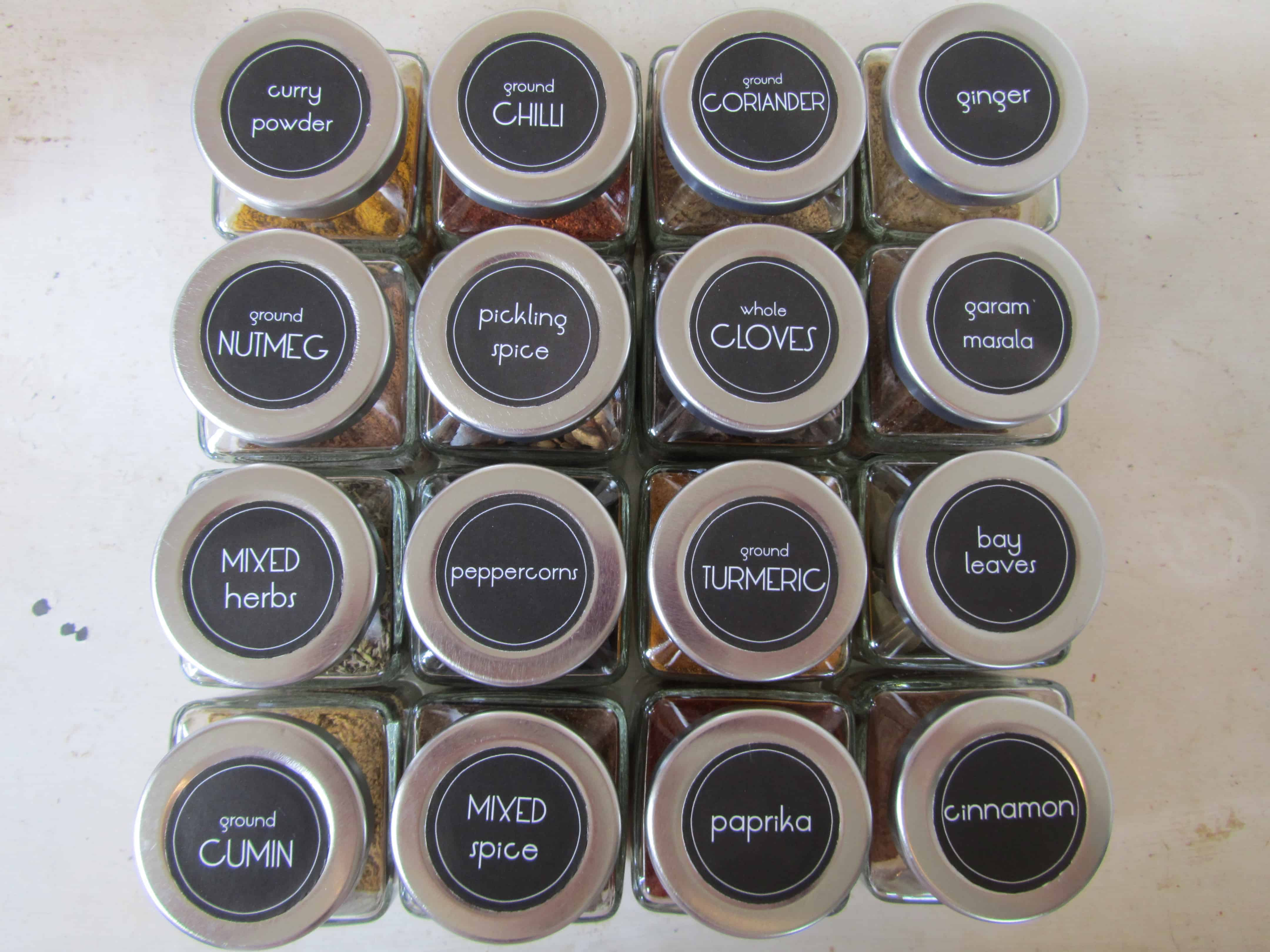 photograph relating to Free Printable Spice Labels named Spice jar labels (with cost-free printables!) The Kiwi State Female