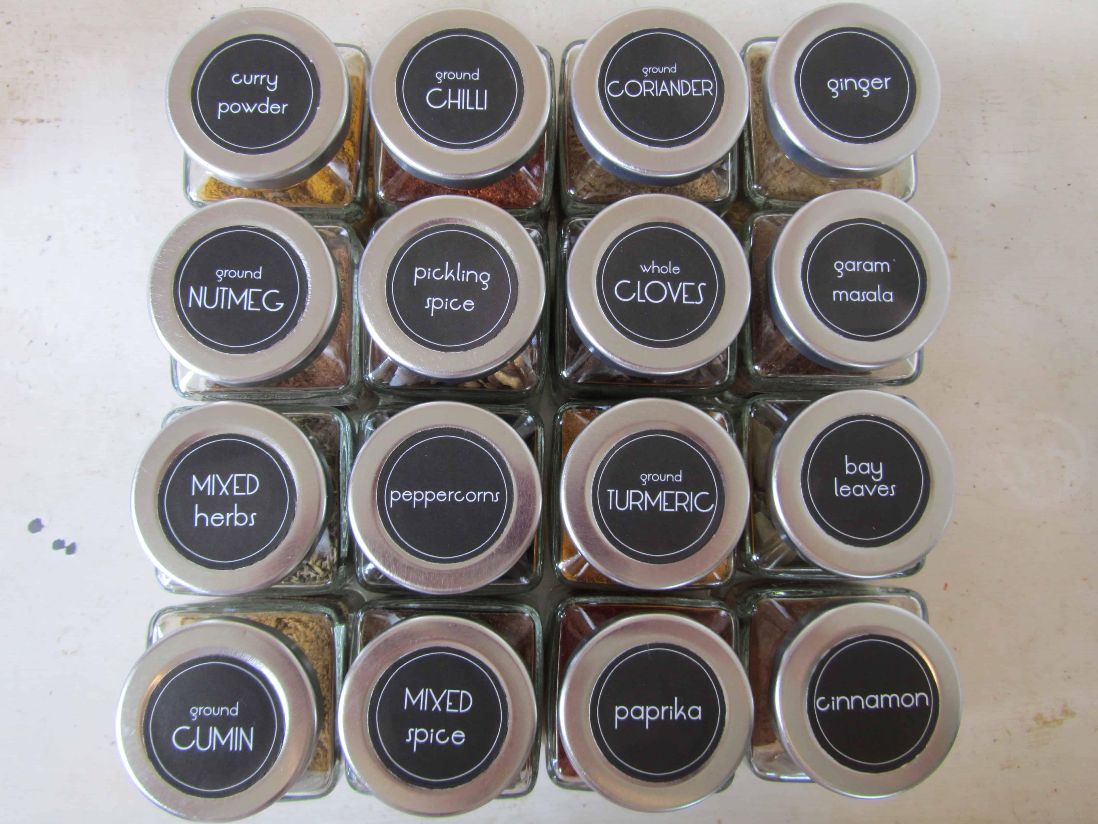 picture regarding Printable Spice Jar Labels identify Spice jar labels (with totally free printables!) The Kiwi Region Lady