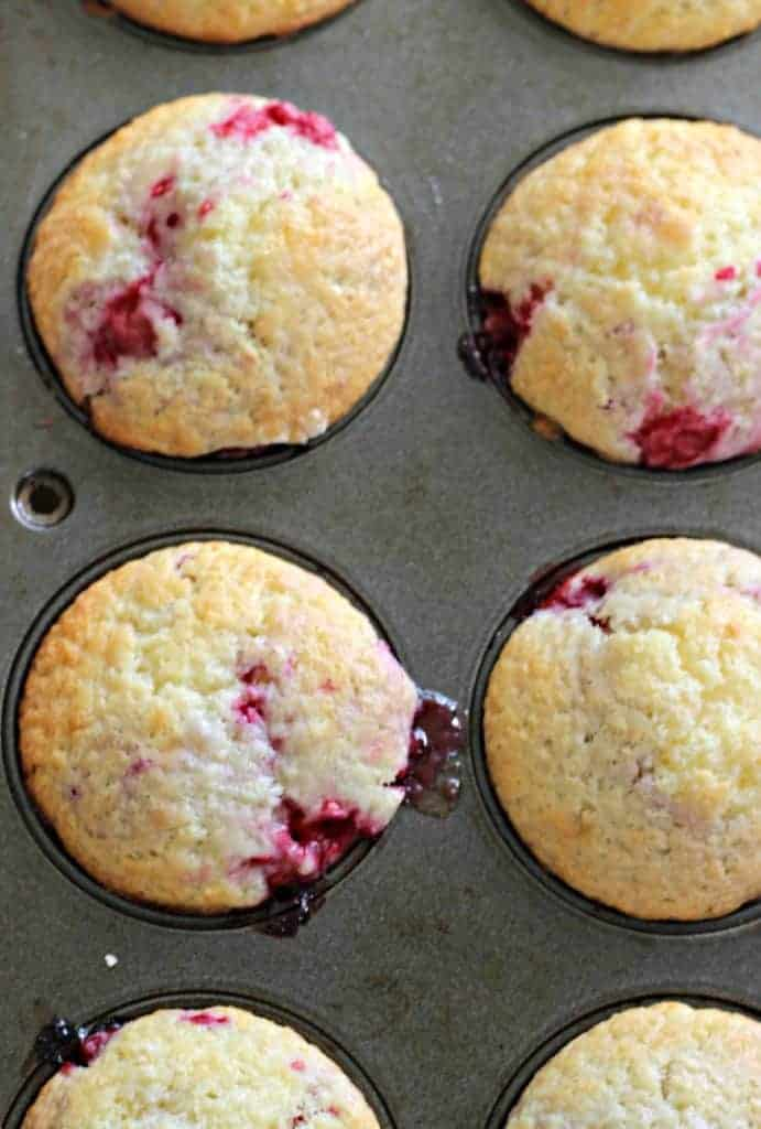 Raspberry & Lemon Curd Muffins (3)