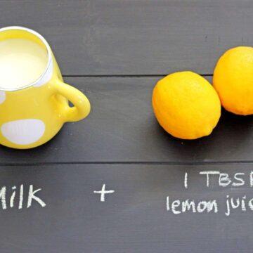 1 cup milk + 1 TBSP lemon juice = buttermilk!