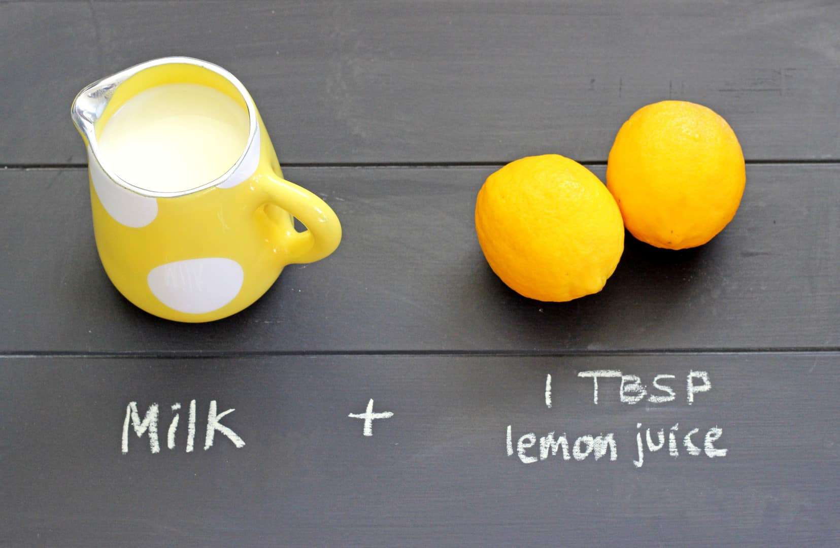 1 cup milk + 1 TBSP lemon juice = buttermilk!