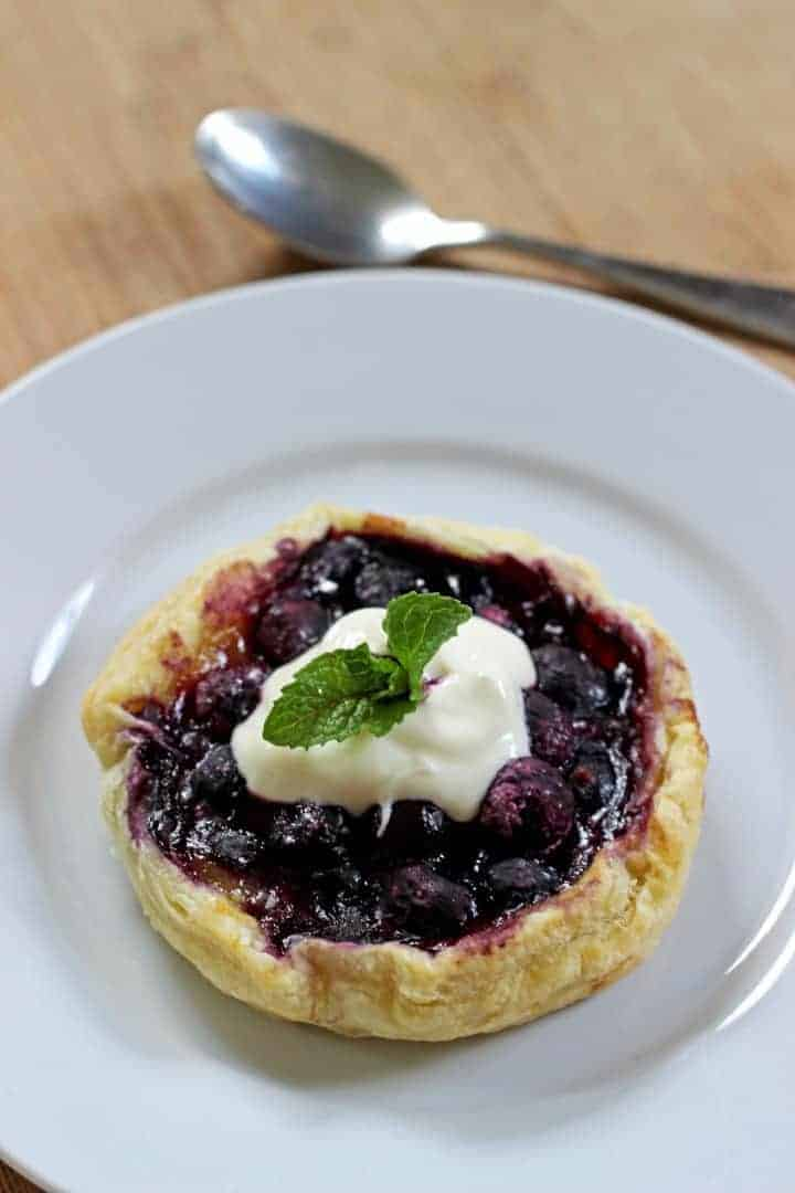 Blueberry & Lemon Curd mini galettes...YUM!