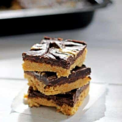 No Bake Chocolate Peanut Butter Slice