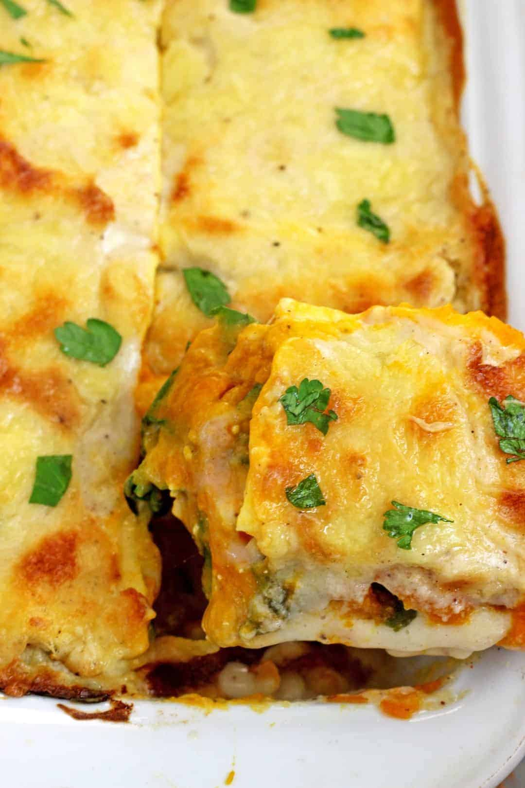 Pumpkin and Spinach Lasagna pictures