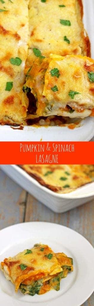 Epic pumpkin, spinach & feta lasagne...the ultimate vege comfort food! | thekiwicountrygirl.com