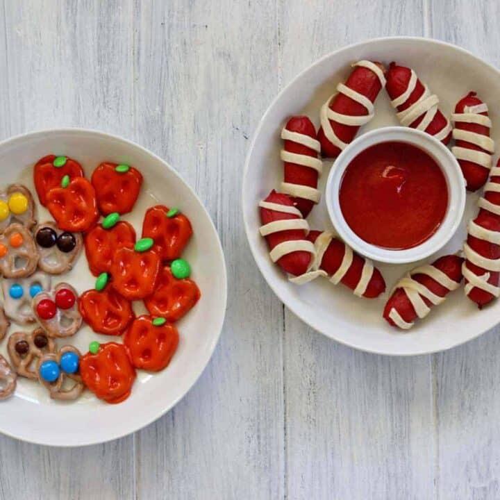 3 easy peasy fast Halloween snacks!