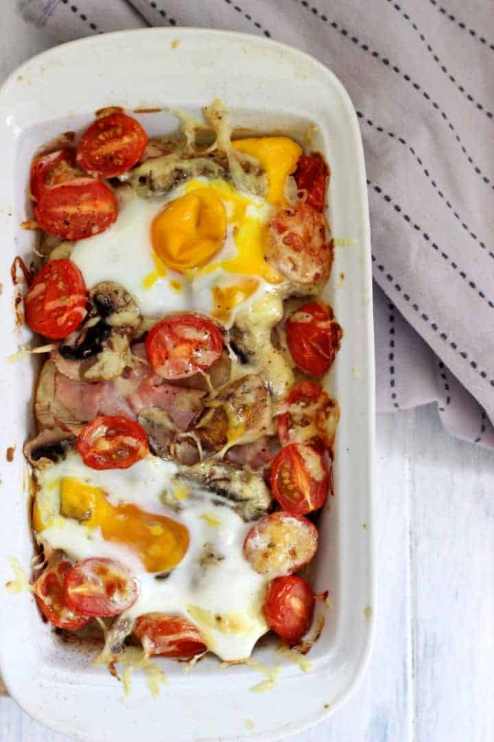 Make ahead breakfast casserole with all your favourite breakfast foods!