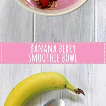 Fresh, fruity, cold & refreshing banana berry smoothie bowl