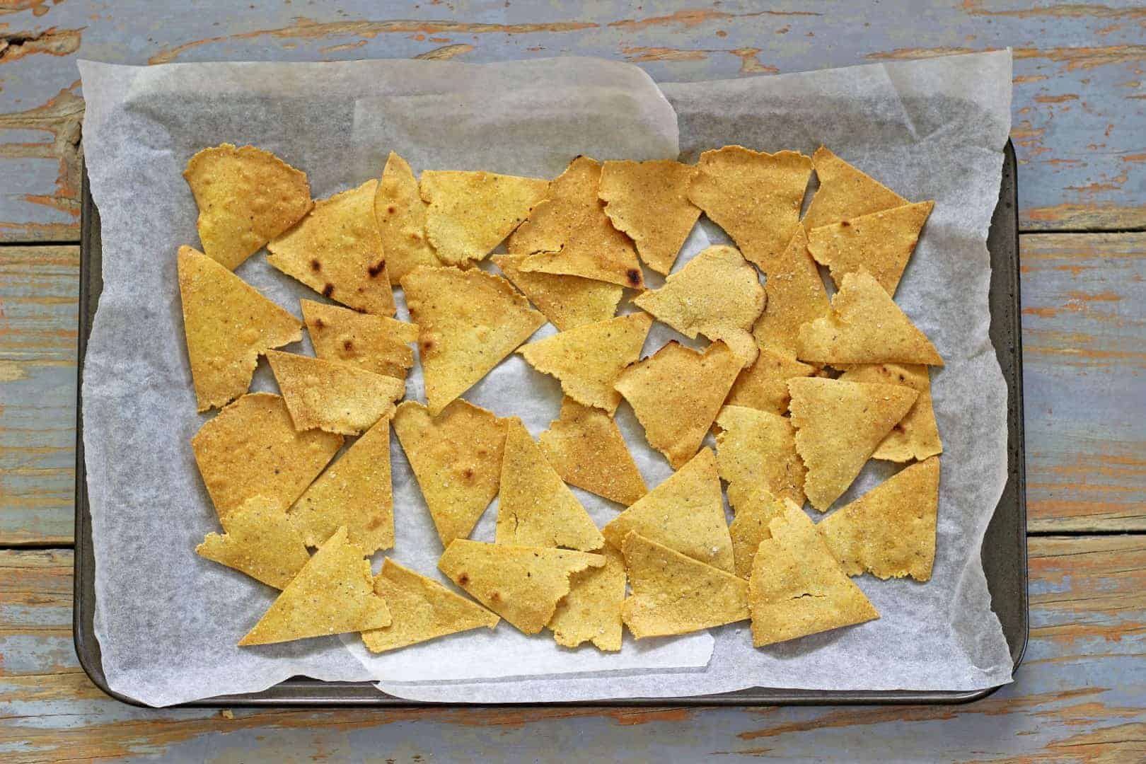 My new favourite snack time BFF - homemade corn chips...arriba!