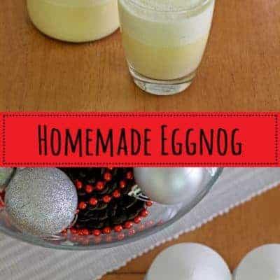 Classic Christmas eggnog - the perfect festive drink!