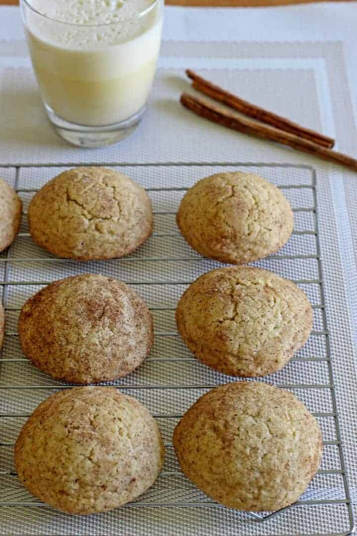Classic cookies infused with Christmas...Eggnog Snickerdoodles for the win!
