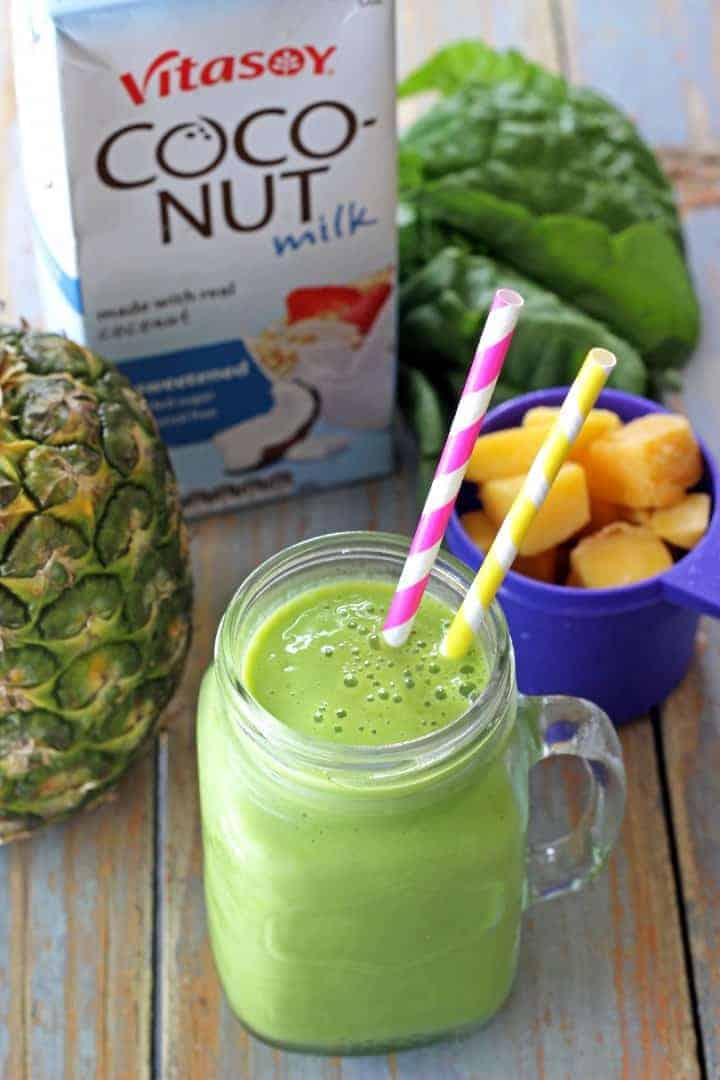 The perfect introduction to green smoothies. With coconut & tropical flavours you will never know there is spinach in it!