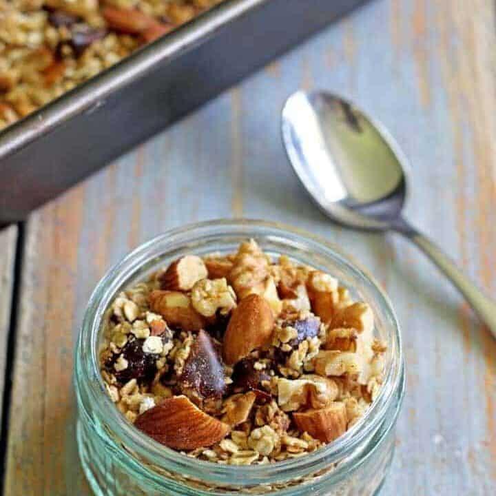 Crunchy, sweet superstar status homemade honey nut granola