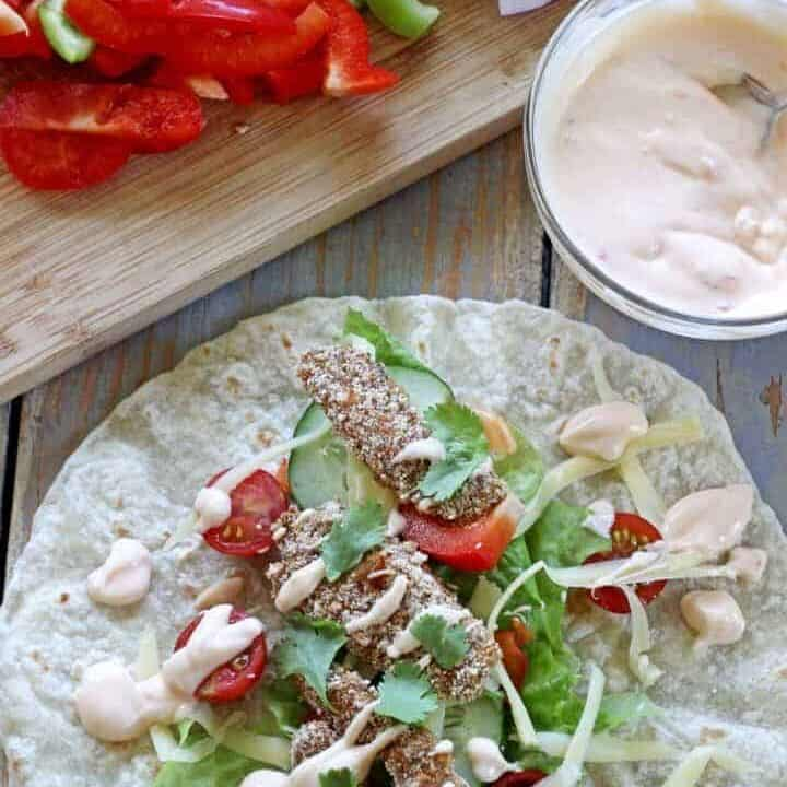 Crispy chicken burritos - fast, easy, tasty & healthy! The perfect week night meal.