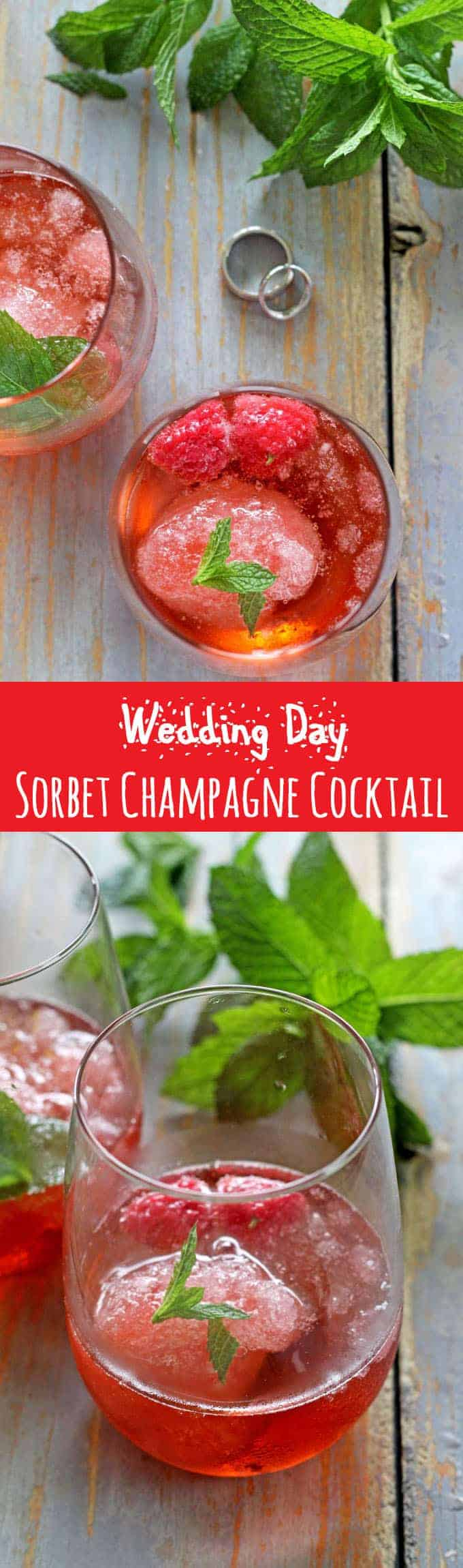 Sparkling sorbet champagne cocktail - the perfect drink for an extra special occasion.