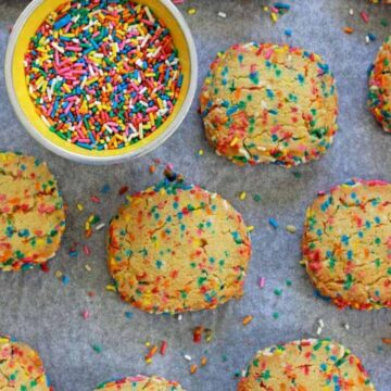 These slice & bake cookies are chocka block full of sprinkles and can be made ahead, frozen and baked in a hurry!
