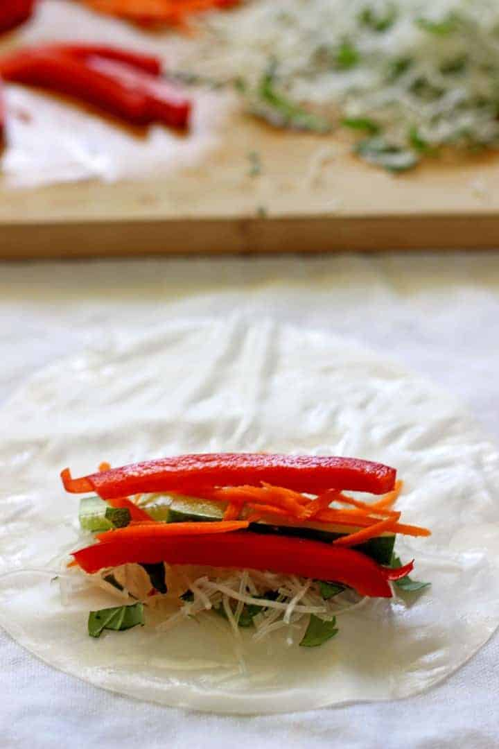 Fast, fresh & full of flavour, these Vietnamese style rice paper rolls are the perfect lunch or healthy dinner option.