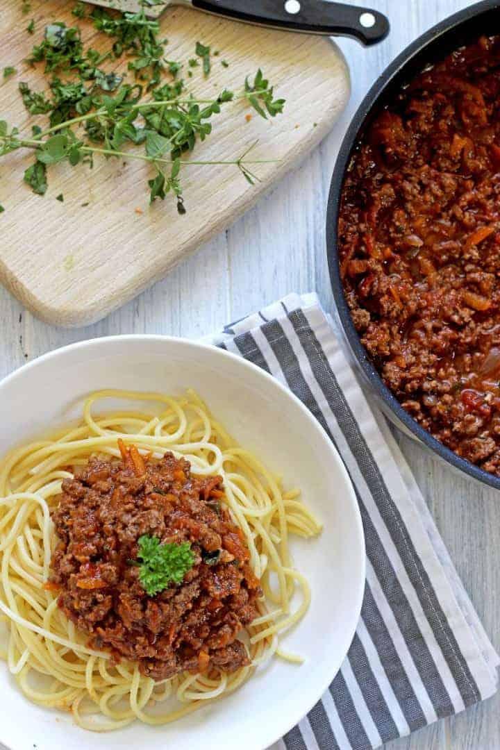 Super Simple Spaghetti Bolognese The Kiwi Country Girl
