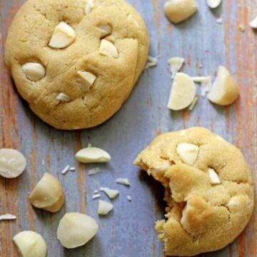 White chocolate & macadamia nut cookies...soft cookie perfection!