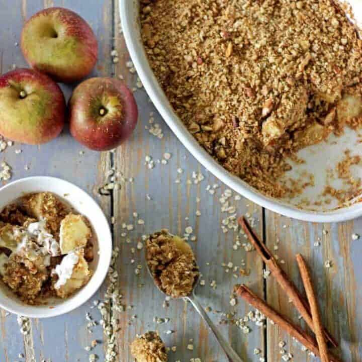 Oaty, nutty apple crumble - the perfect autumn dessert...um, or breakfast!