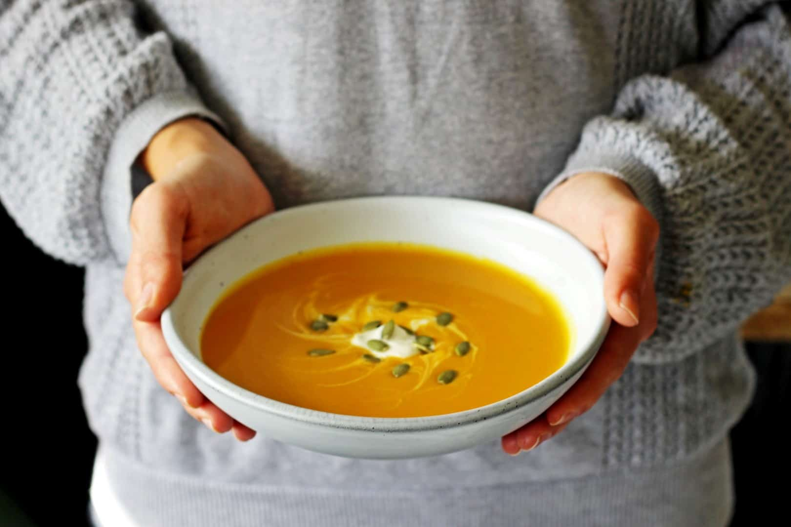 Classic pumpkin soup with a Thai inspired twist - Thai Spiced Pumpkin Soup!   thekiwicountrygirl.com