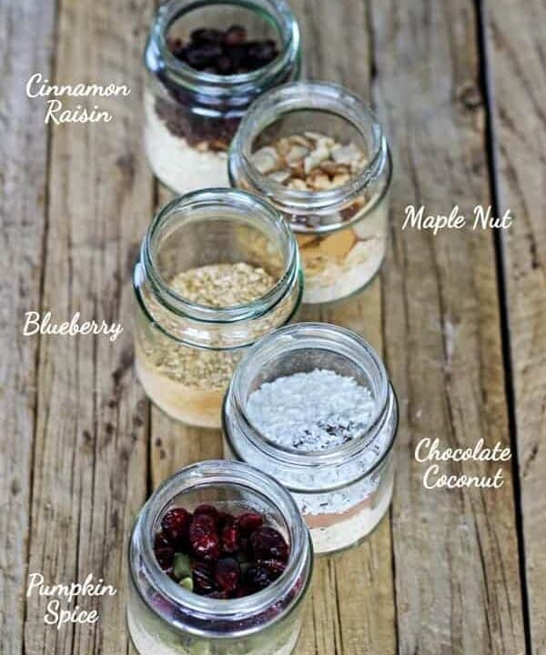 Here is an easy, homemade alternative to processed store bought quick oats - homemade quick oats, with 5 delicious flavour combos!   thekiwicountrygirl.com