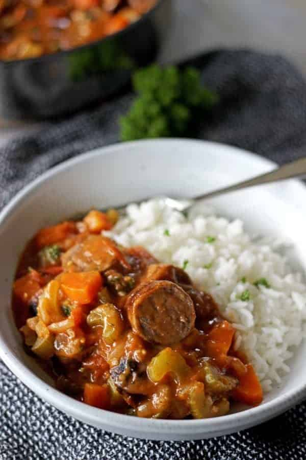 Inspired by my favourite New Orleans dish, this is my take on spicy chicken & sausage gumbo! Easy to make and full of flavour! | thekiwicountrygirl.com
