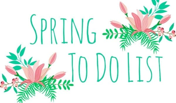 Spring To Do List - a fun list of activities to make the most of spring!   thekiwicountrygirl.com
