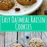 Soft, pillowy and easy to make classic oatmeal raisin cookies. A hint of cinnamon makes these cookies irresistible especially with a glass of cold milk! | thekiwicountrygirl.com