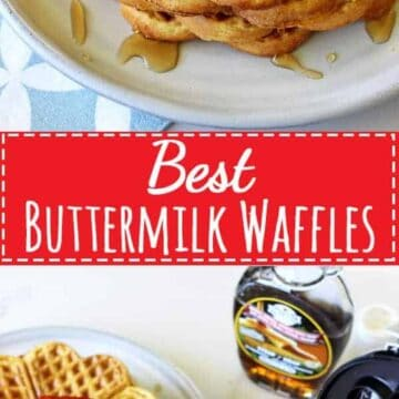 How all Sunday mornings should be spent - lazy starts, coffee and the best buttermilk waffles covered in maple syrup and fresh summer strawberries!   thekiwicountrygirl.com