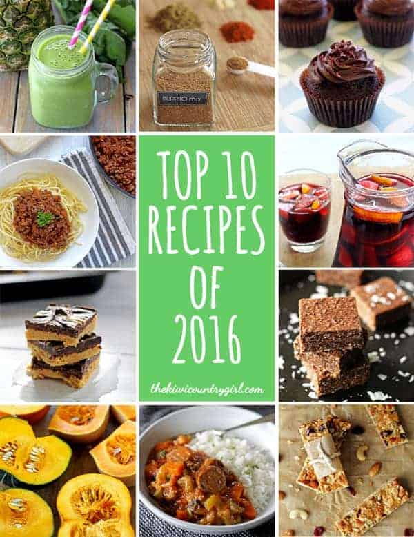 Top 10 Recipes from 2016 | thekiwicountrygirl.com