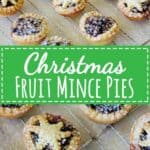 The dessert no Christmas table should be without - Christmas fruit mince pies! Made with homemade Christmas fruit mince and sweet shortcrust pastry | thekiwicountrygirl.com