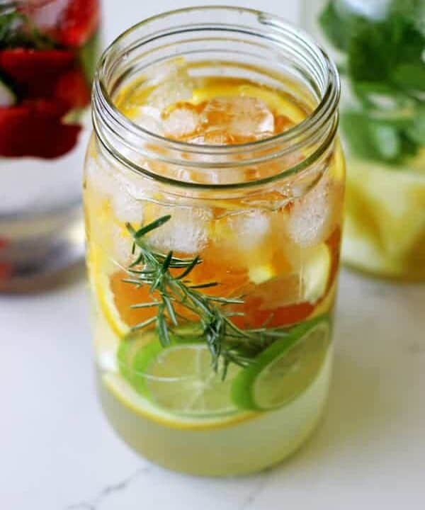 3 Fruit Flavoured Water Recipes - the perfect way to stay hydrated this summer with quick, easy and delicious fruit and herb flavoured water!   thekiwicountrygirl.com