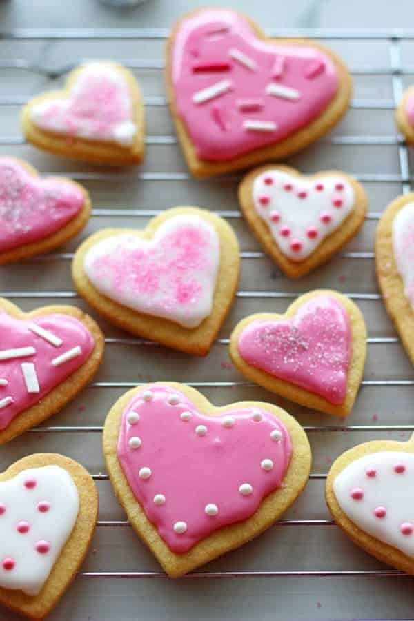 Valentines Day Heart Sugar Cookies The Kiwi Country Girl