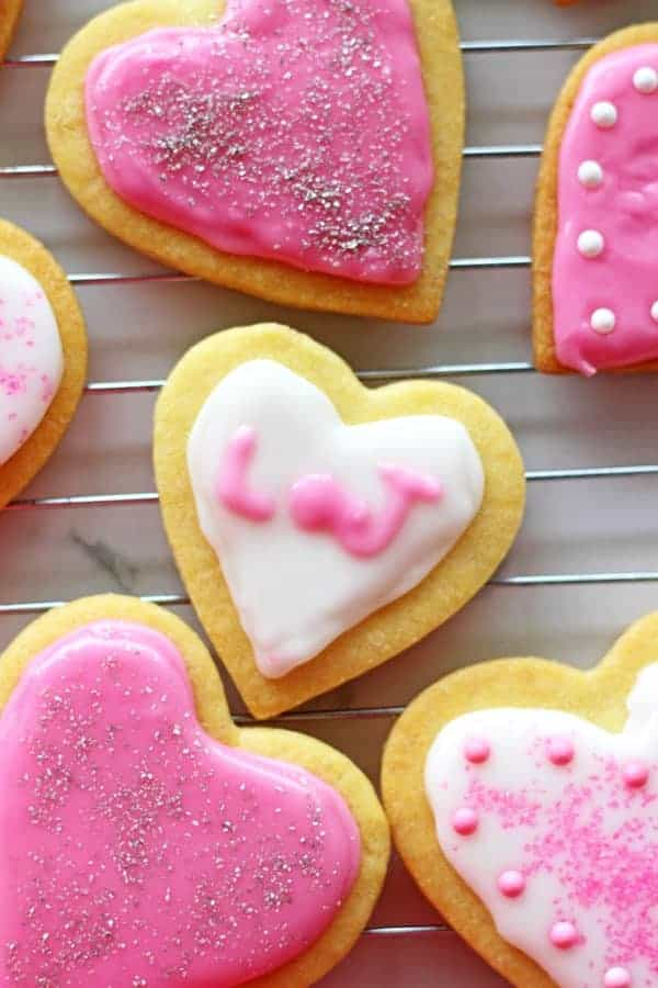 Valentine S Day Heart Sugar Cookies The Kiwi Country Girl