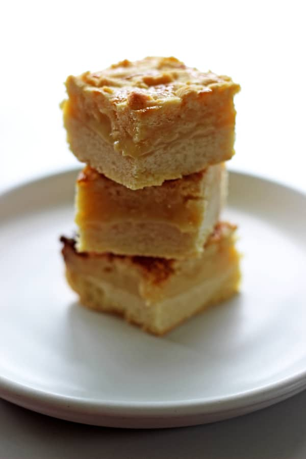 Butterscotch slice - another family favourite! This is a slice with a buttery base and a gooey butterscotch inside - it's slice perfection! | thekiwicountrygirl.com