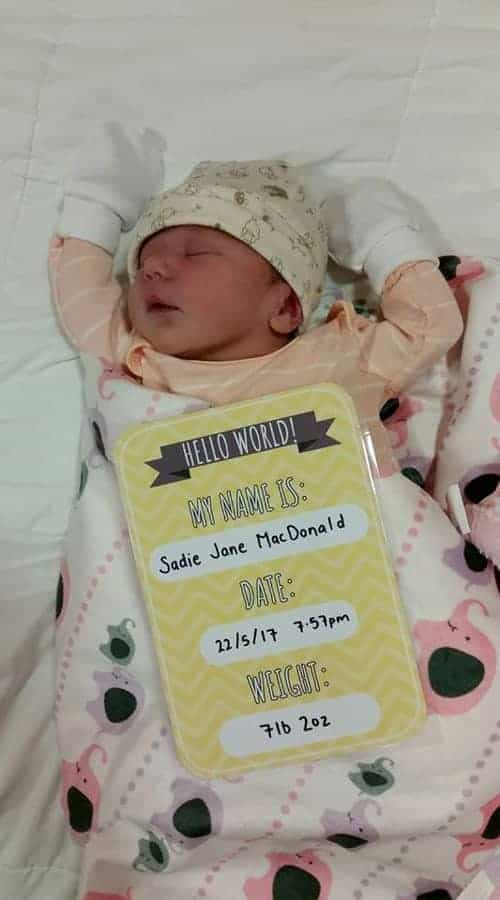 Introducing our baby girl Sadie Jane MacDonald! | thekiwicountrygirl.com