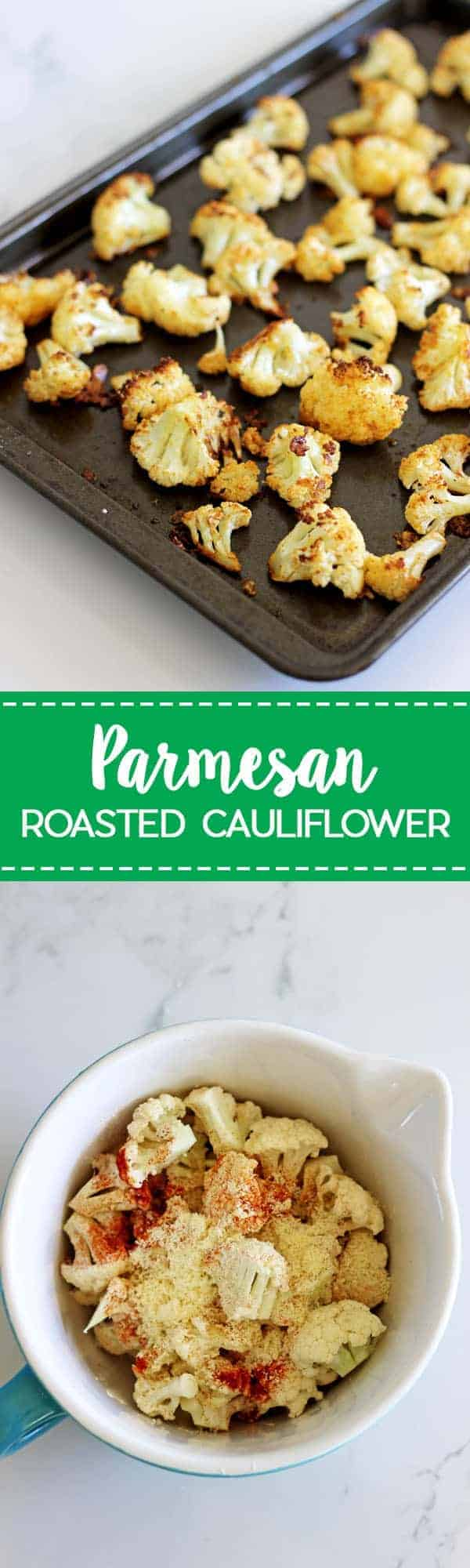 Parmesan Roasted Cauliflower - the perfect way to eat this delicious vegetable, cheesy, crispy and a great snack or side dish! | thekiwicountrygirl.com