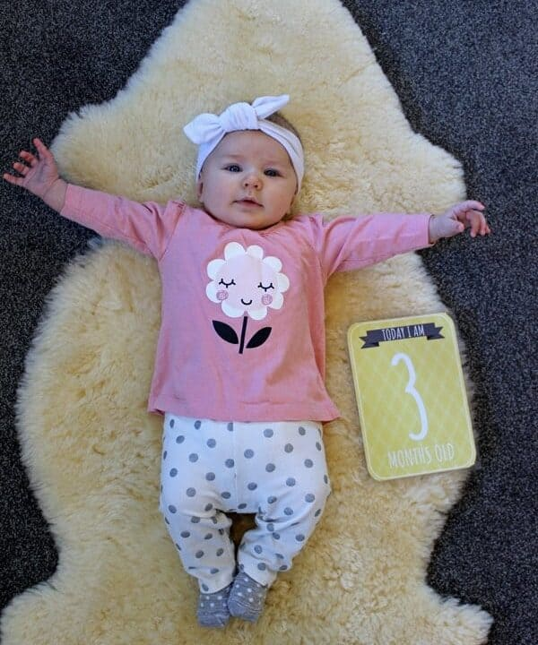 Sadie - 3 months. An update on our baby girl and what life has been like for her third month. Lots of laughing, chatting and a family holiday! | thekiwicountrygirl.com