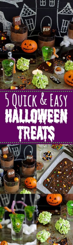 5 Quick and Easy Halloween Treats {all no bake!}