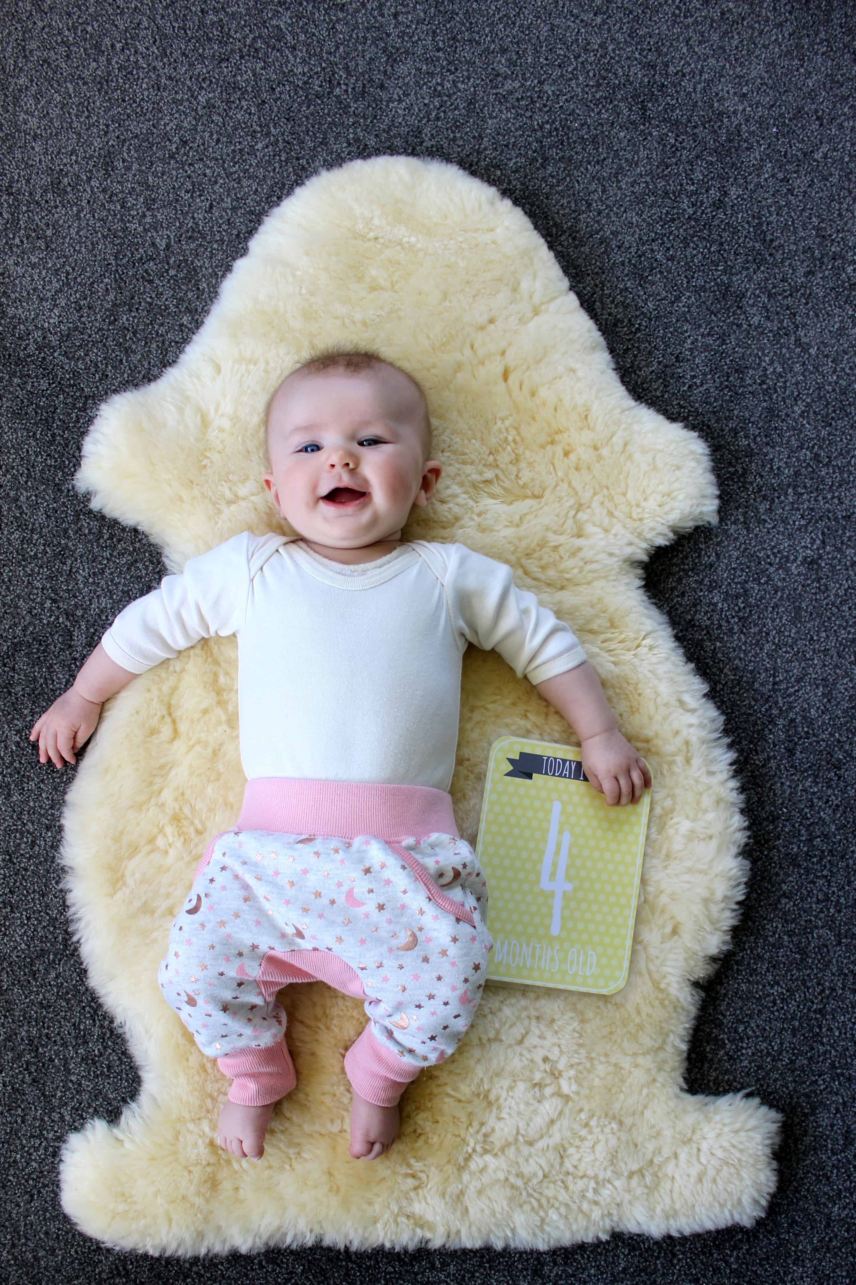 Sadie - 4 months - our happy baby girl and what she's been up to this month. Rolling, swimming, keeping us entertained...she's awesome!