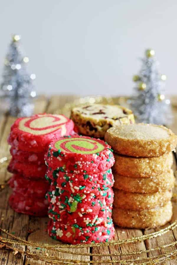 1 Basic Dough – 4 Slice and Bake Christmas Cookie Recipes!