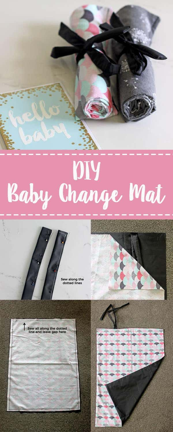 How to make a simple baby change mat - if you can sew a straight line, you can make this portable baby change mat - perfect for in the nappy/diaper bag or as a baby shower gift! | thekiwicountrygirl.com