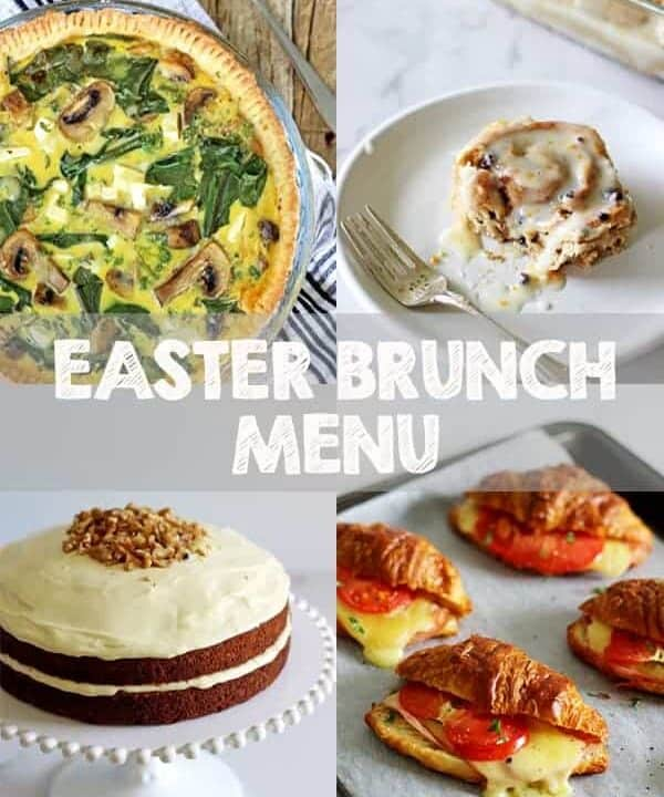 Here is your Easter Brunch Menu inspiration! Tips for hosting an Easter Brunch as well as what we are having plus all recipes! | thekiwicountrygirl.com