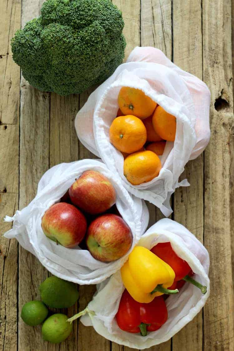 A Quick Tutorial For Diy Reusable Produce Bags How To Make Them What Material Use And Simple Instructions Great Way Less Plastic