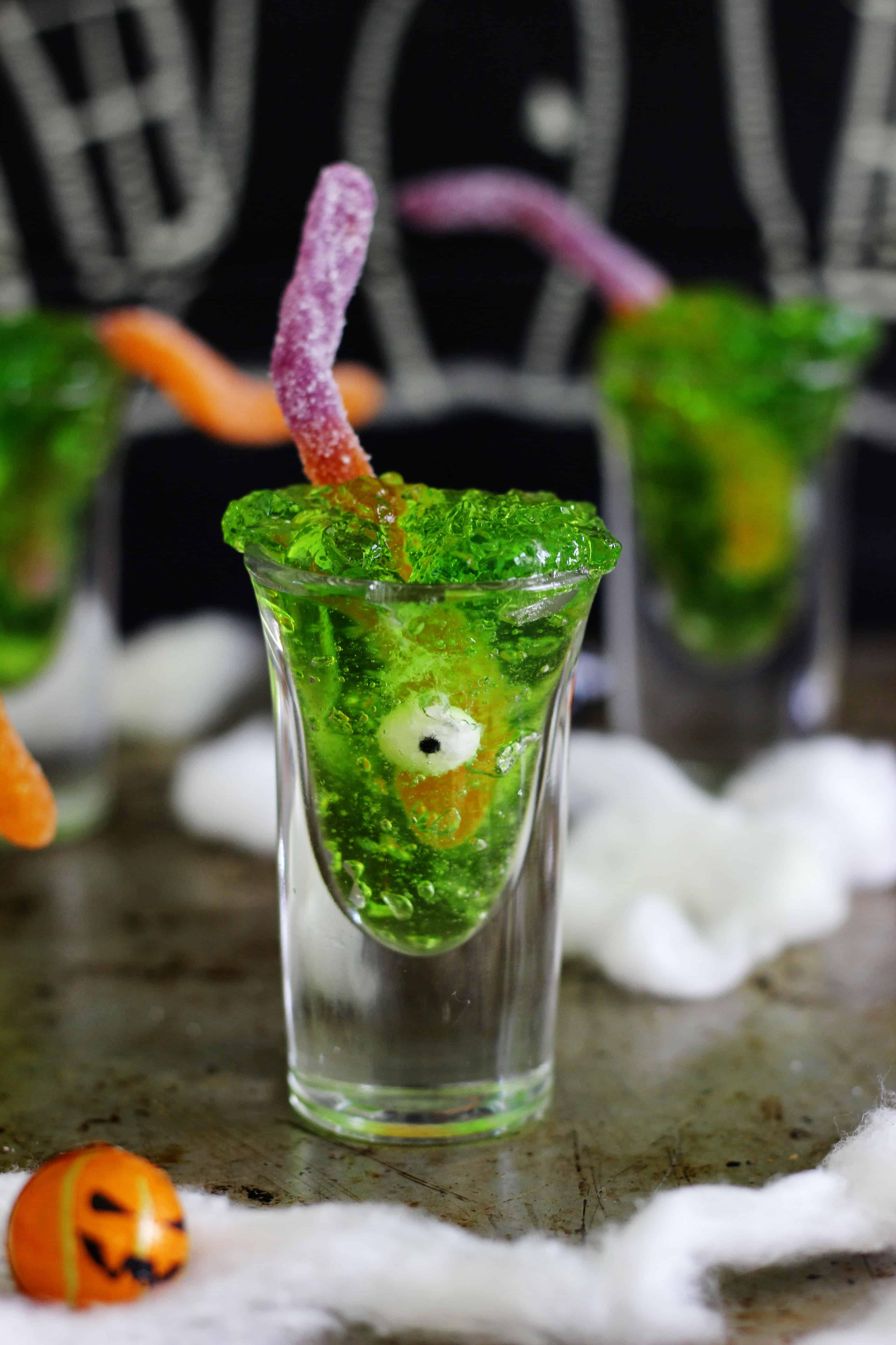 Halloween Jello Slime Shot