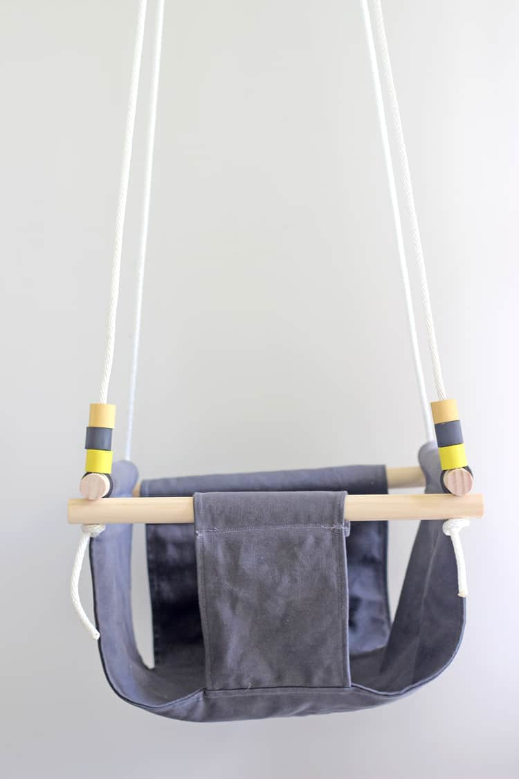 DIY baby swing hanging from ceiling