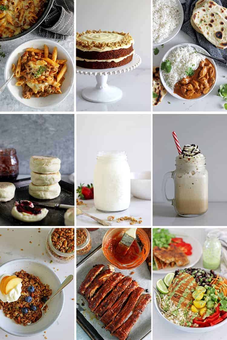 Collage of 9 recipe images